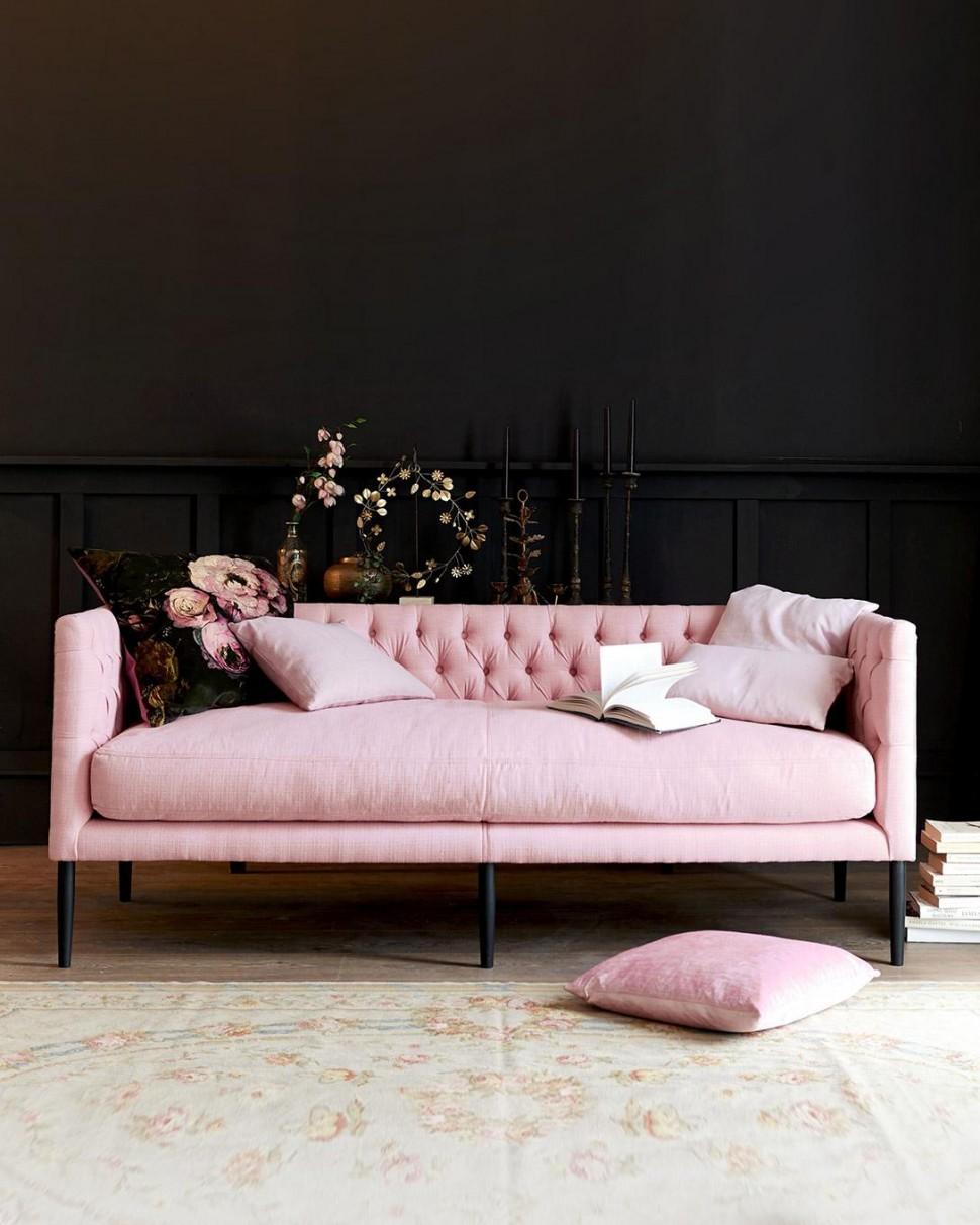 Sofa, legs in beech wood, bespoke